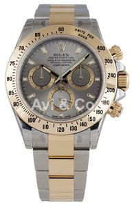 Rolex Rolex Cosmograph Daytona Steel & Yellow Gold Watch Silver Dial 116523