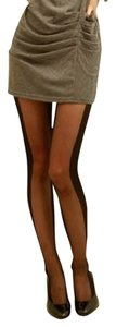 other edgy goth rocker steampunk illusion slimming silhouette full stockings - freesized for XS/S/M