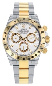 Rolex Rolex Cosmograph Daytona Steel & Yellow Gold Watch White Dial 116523