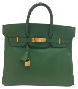 Herms Birkin 30 Hac Calf Tan Satchel in light green (olive)