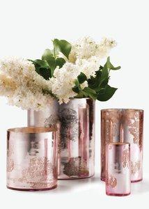 Pink Mercury Glass Holders Votive/Candle