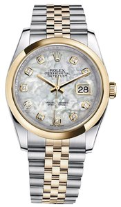 Rolex Rolex Datejust 36 Steel & Yellow Gold Jubilee Bracelet Watch Mother of Pearl Dial 116203