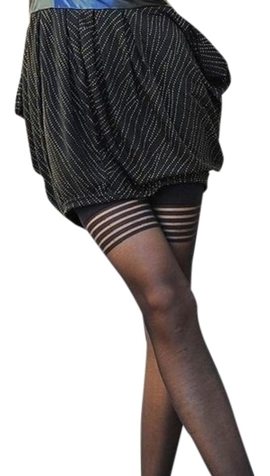 b40475a0e Other Thigh High ringed goth rocker steampunk black thigh high stockings  tights - freesized for XS ...