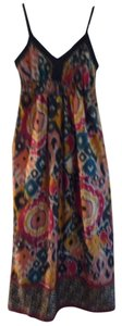 red, green, yellow, orange, black Maxi Dress by Angie