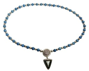 Carolyn Pollack Rare Carolyn Pollack Relios Interchangeable Mother of Pearl Pendant & Lapis Bead Southwestern Necklace