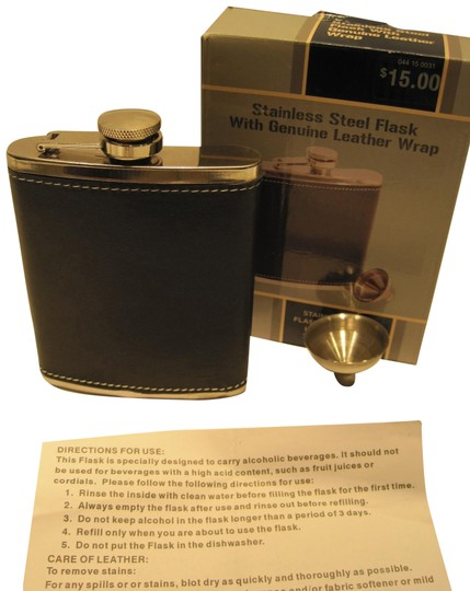 Preload https://item4.tradesy.com/images/other-stainless-steel-leather-wrapped-flask-1476048-0-1.jpg?width=440&height=440