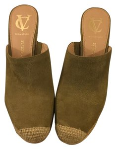 Vince Camuto Summer Chic Wedge Moss Mules