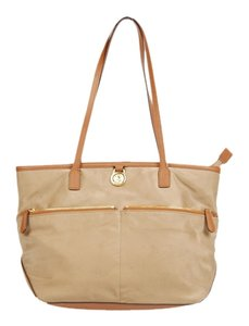 Michael Kors Mk Kempton Nylon Tote in Tan