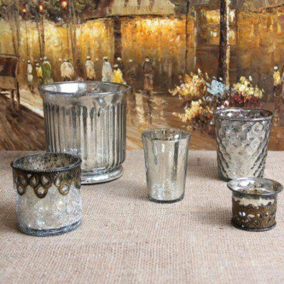 mercury glass candleholders decor tradesy weddings