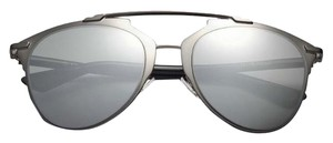 Dior Reflected 52MM Mirror Aviator Sunglasses Black/Black Mirror