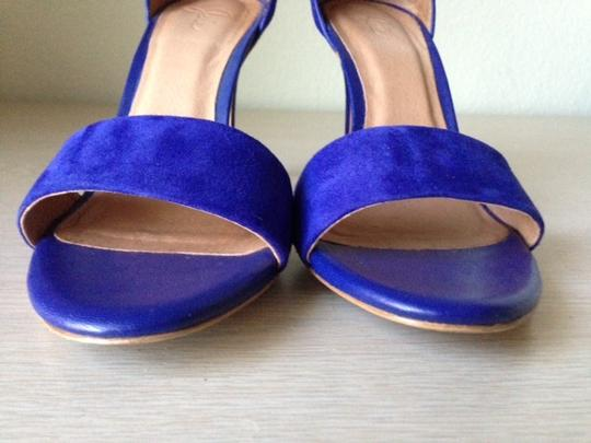 Joie Date Night Night Out High Heeled Ankle Strap Cobalt blue Sandals