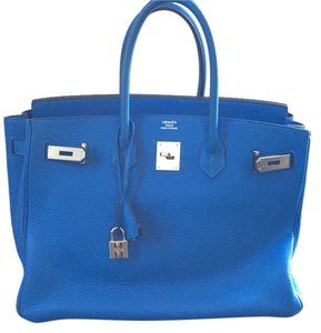 Herms Satchel in Electric Blue