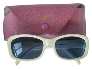Kate Spade Kate Spade Sunny/S Y22 White Frame/Blue Lens Sunglasses & Pink Case Made in Italy