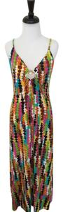 Multi-Color Maxi Dress by Trina Turk Halter