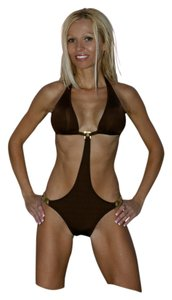 Other Brown with Gold Hardware SwimSuit