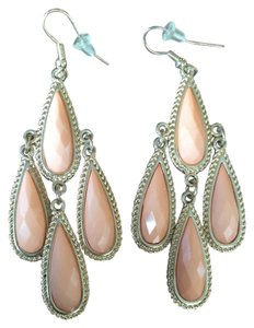 BaubleBar PEACH STATEMENT EARRINGS