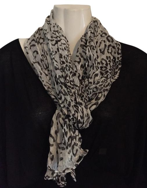 Black with White Scarf/Wrap Black with White Scarf/Wrap Image 1