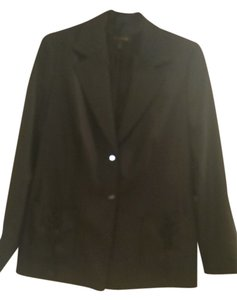 Escada Vintage Never Worn Wool And Silk Blend Black Jacket