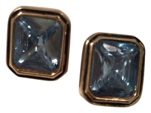Ralph Lauren Blue Stones Clip On Earrings