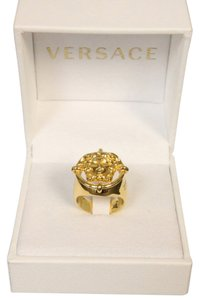Versace VERSACE Limited Edition Rare Medusa Head Gold Ring sz 22