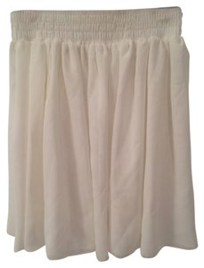 American Apparel Mini Skirt Cream