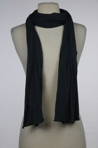 Michael Stars Michael Stars Womens Charcoal Solid Scarf One Cotton Casual