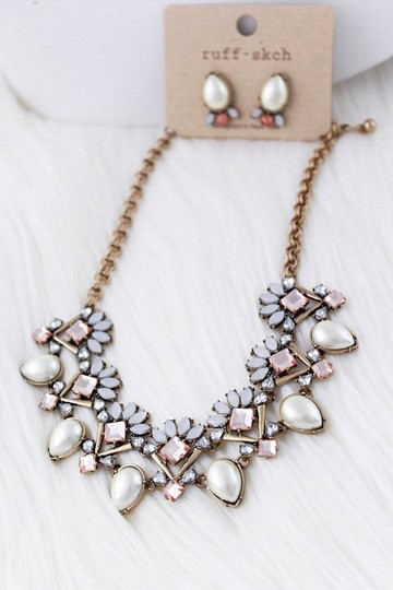 Other Hot Style Embellished Stone Woman Statement Necklace Set