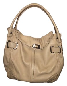 Francesco Biasia Leather Soft Tote in Cream