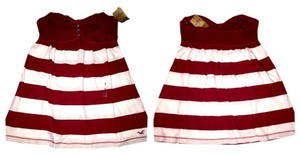 Hollister Top Burgundy And White