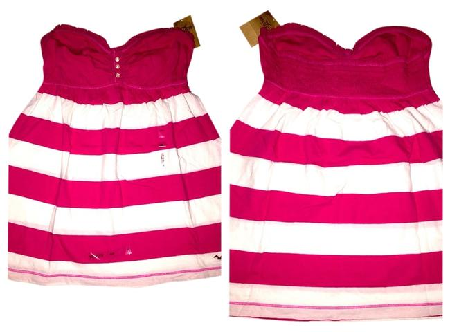 Hollister Top Pink And White