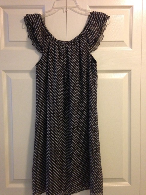 Old Navy short dress Black and White Versatile Chic Classic Ruffle Flowy Comfortable on Tradesy