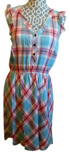 Kensie short dress Light blue plaid on Tradesy
