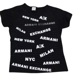 Armani Exchange T Shirt Black