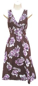 Moschino short dress Brown Floral Eyelet Summer Empire Waist Tie Back Floral on Tradesy