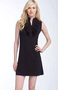 LAmade short dress Black Ruffle Sleeveless Jersey A-line on Tradesy