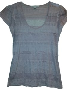 Banana Republic Lace Comfortable Sheer Top Pink