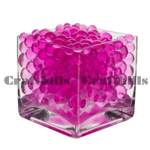 100g Pink Water Bead Make 2.5 Gallons Water Jelly Crystal Gel Ball For Wedding Party Home Floral Eiffel Tower Vase Art