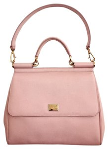 Dolce&Gabbana Dolce & Gabbana Miss Sicily Shoulder Satchel in Light Pink with leopard lining