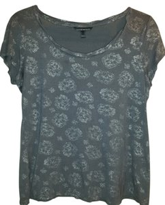 Rock & Republic Rayon Comfortable Sparkle T Shirt Grey