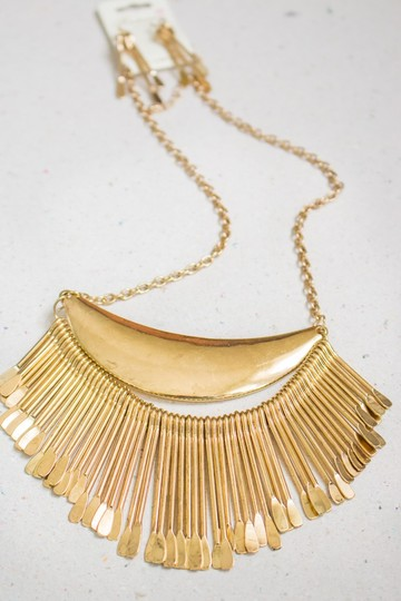 Other Golden Plated Paddle Crescent Necklace Set