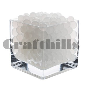 100g White Water Bead Make 2.5 Gallons Water Jelly Crystal Gel Ball For Wedding Party Home Floral Eiffel Tower Vase Art