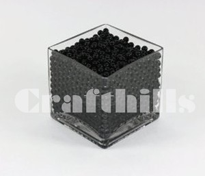 100g Black Water Bead Make 2.5 Gallons Water Jelly Crystal Gel Ball For Wedding Party Home Floral Eiffel Tower Vase Art