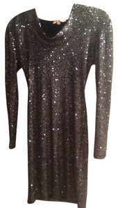 Sequin Hooded Dress
