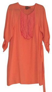 Ali Ro Ruffle Sheer Silk Spring Exclusive Dress
