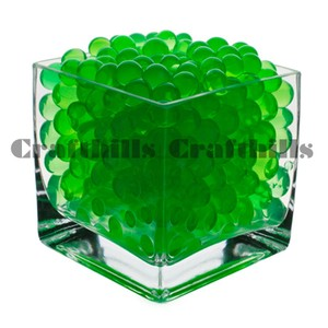 100g Green Water Bead Make 2.5 Gallons Water Jelly Crystal Gel Ball For Wedding Party Home Floral Eiffel Tower Vase Art