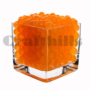 100g Orange Water Bead Make 2.5 Gallons Water Jelly Crystal Gel Ball For Wedding Party Home Floral Eiffel Tower Vase Art