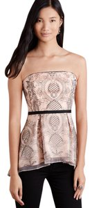 Moulinette Soeurs Peplum Overlay Anthropologie Top Blush Pink