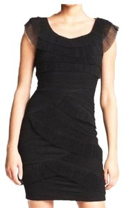 BCBGMAXAZRIA Tulle Pleated Dress