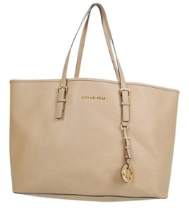 Michael Kors Saffiano Leather Tote in Tan