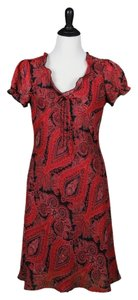 B. Moss short dress Red, Black on Tradesy